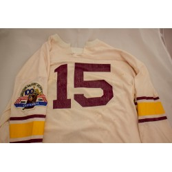 Vintage White Football Jersey with Centennial patch