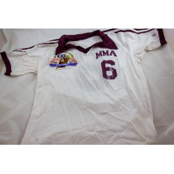 Vintage White Soccer Jersey with patch