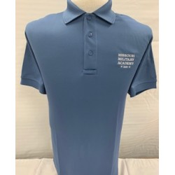 Missouri Military Academy Polo Steel Blue