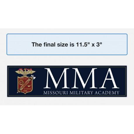 MMA Vinyl Bumper Sticker