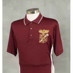 MMA Maroon and White Polo